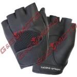 908-N7 - Летни ръкавици Schiaffo cut fingers, черни